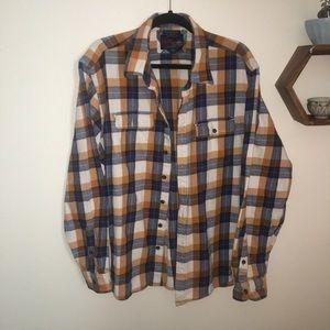 Orange/blue flannel